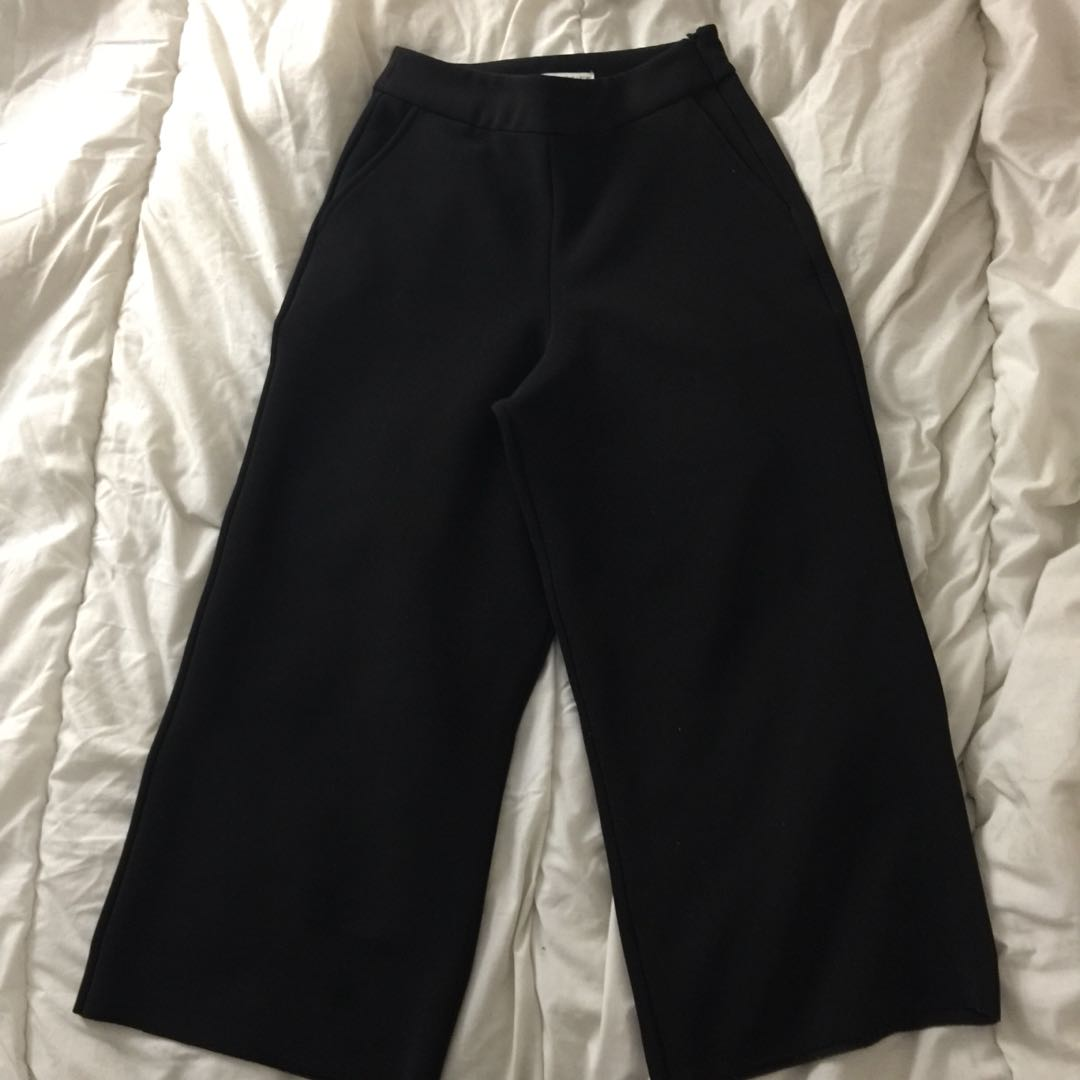 OAK+FORT BLACK CULOTTES