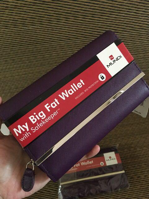 Original NWT Mundi US Big Fat Wallet with