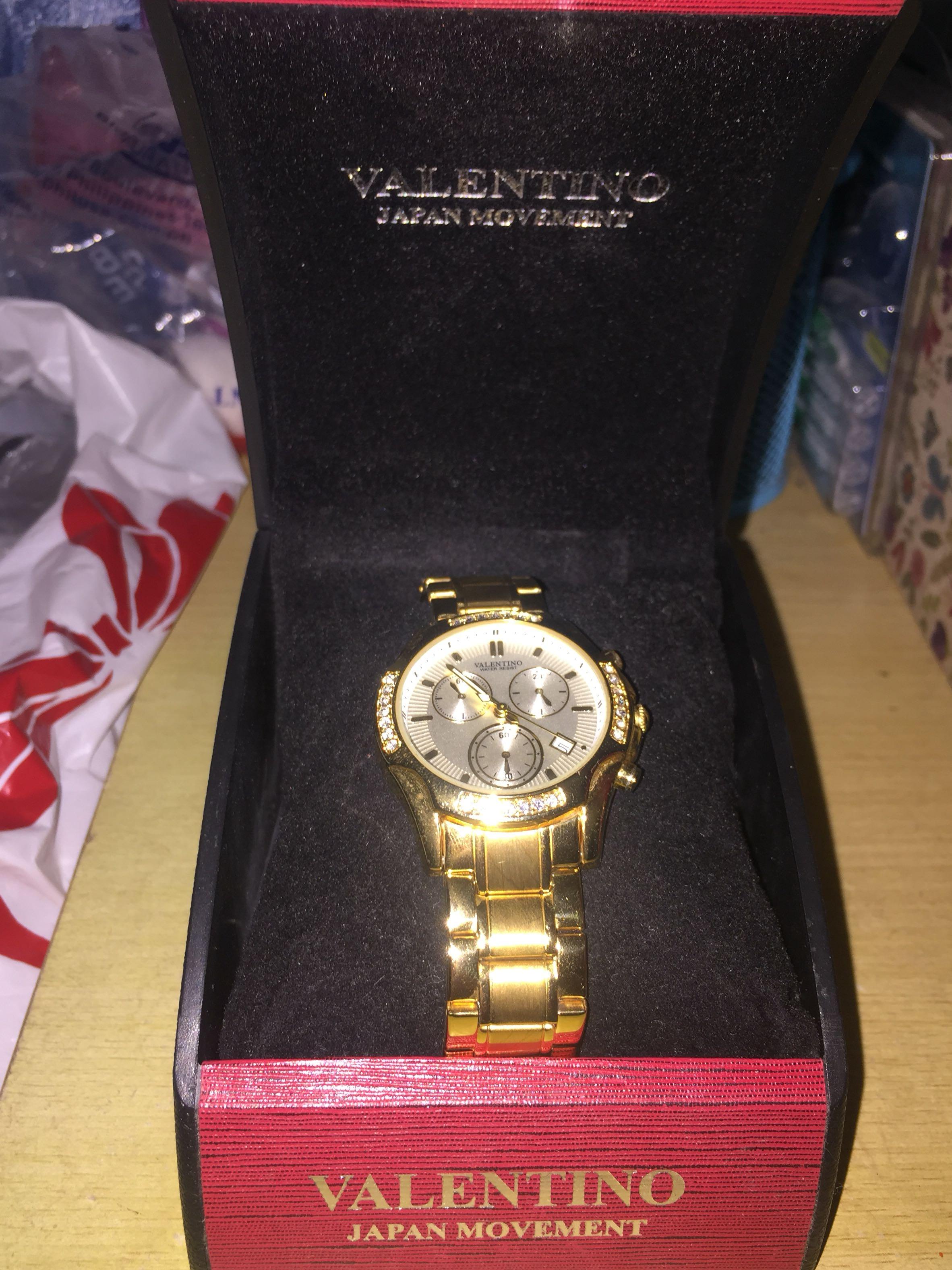 ORIGINAL Valentino Gold Watch