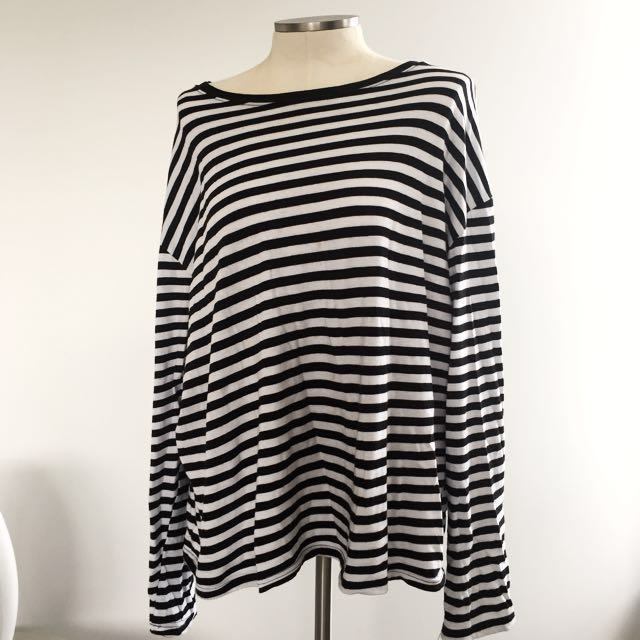 OVERSIZED STRIPED LONG SLEEVE