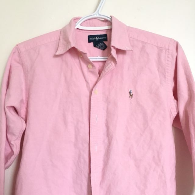 PINK POLO BUTTON UP
