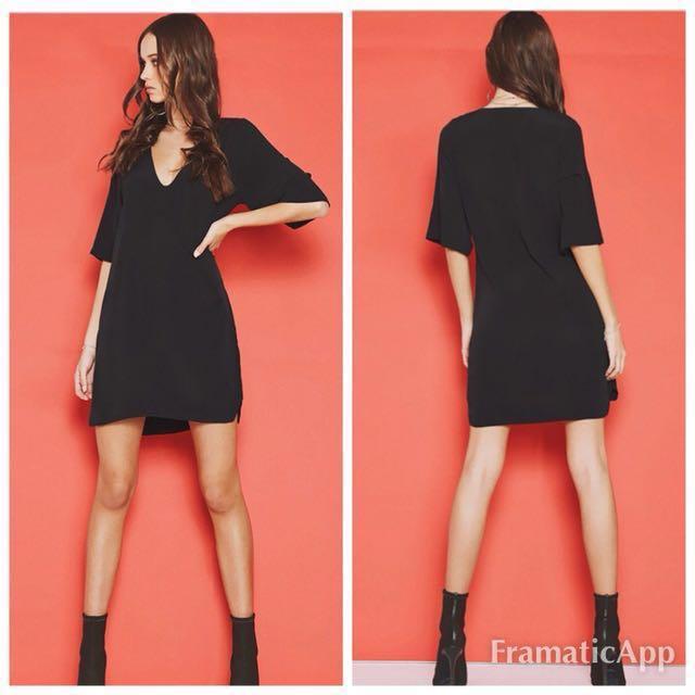 🌞Popcherry Size S(8) Black Shift Dress