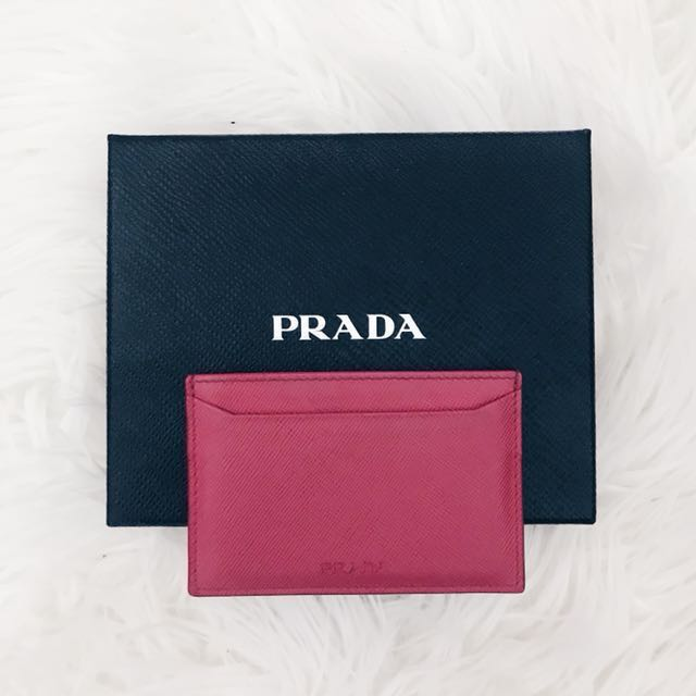 PRADA Authentic Cardholder (Peonia)