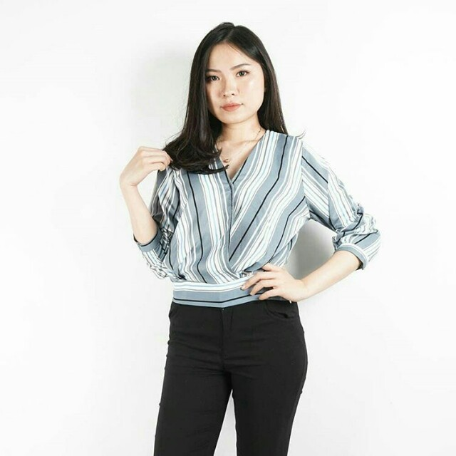 Purly Stripe Blouse