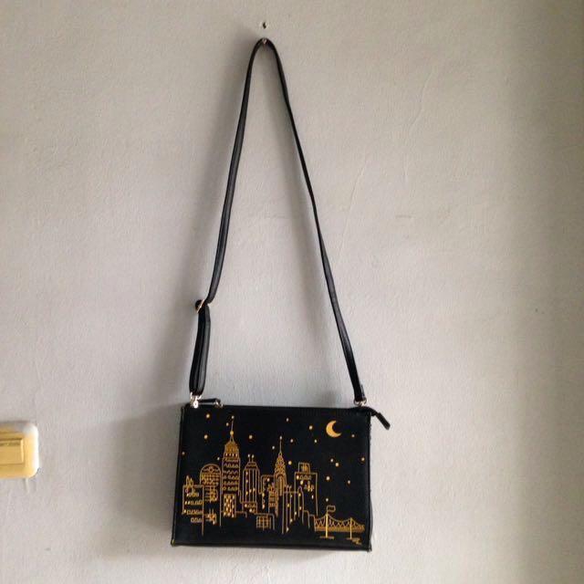 (Reprice) STEVE & CO Black Sling Bag / Clutch