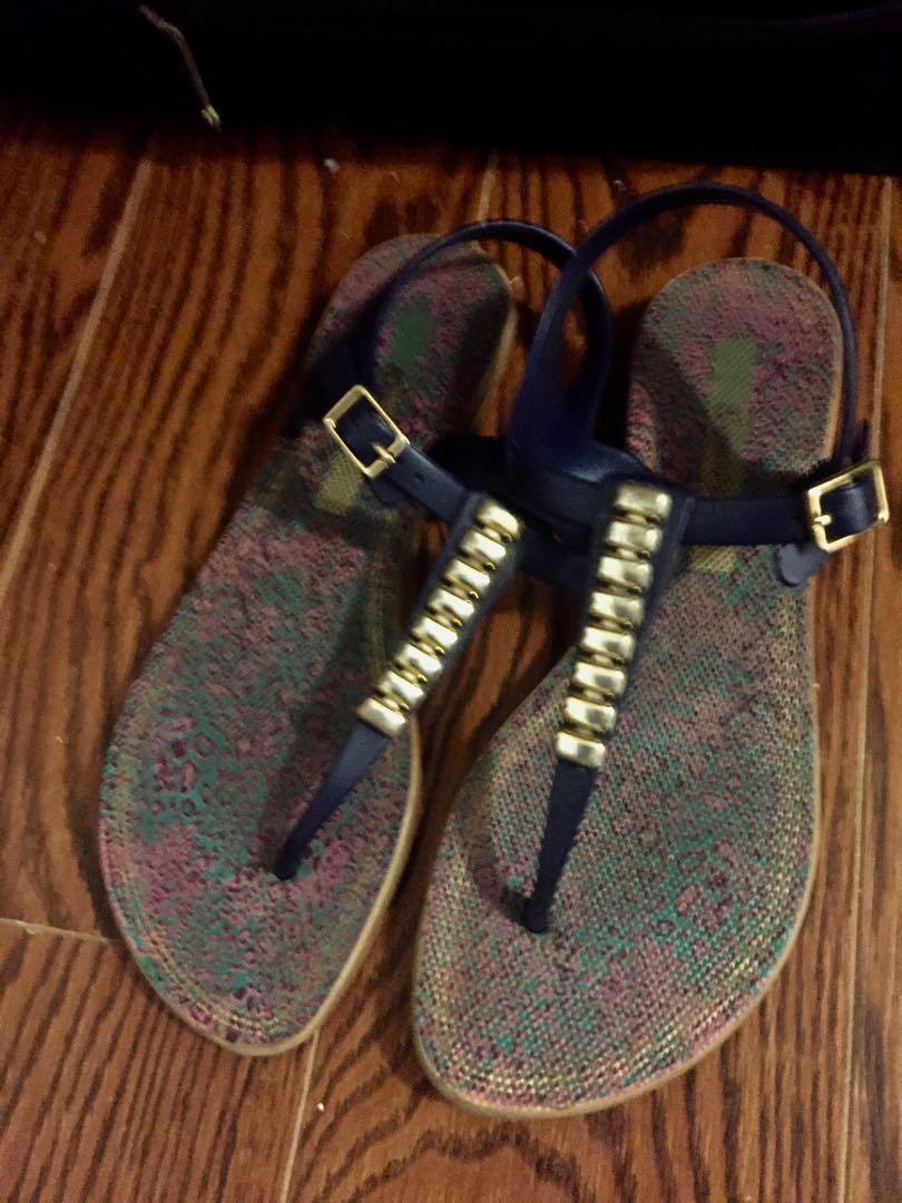Sandals, purplish blue, Ipanema, size 6