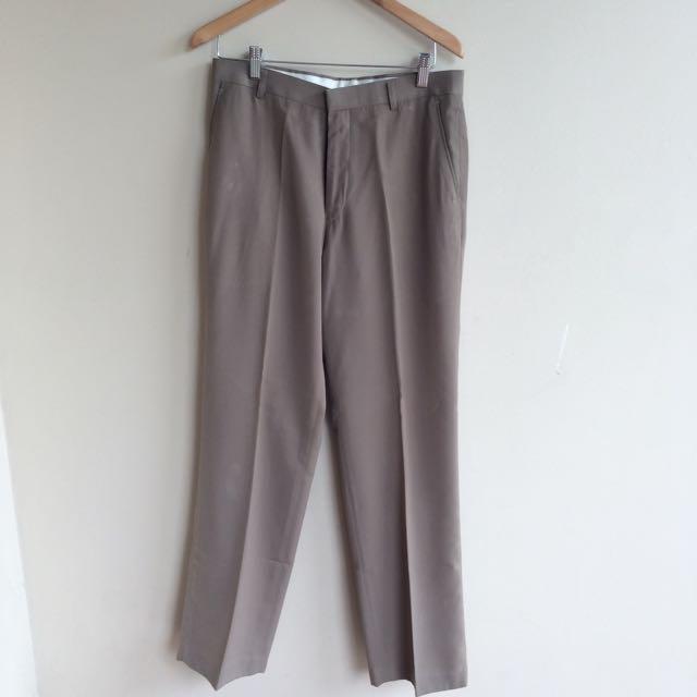 SCHOLLER brown work pants celana kerja pria