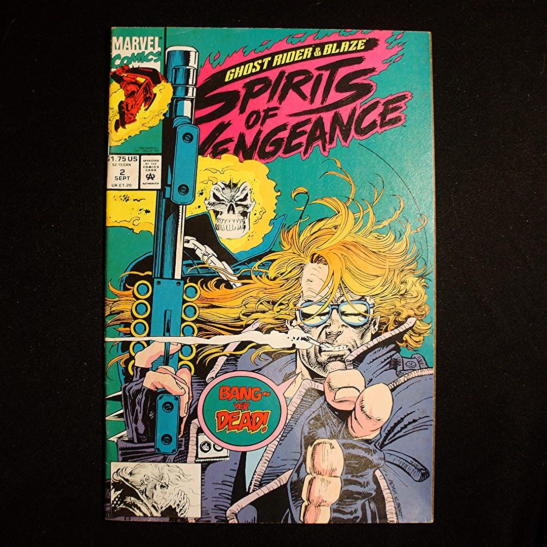 SPIRITS OF VENGEANCE Ghost Rider & Blaze #2 (1992 Marvel)
