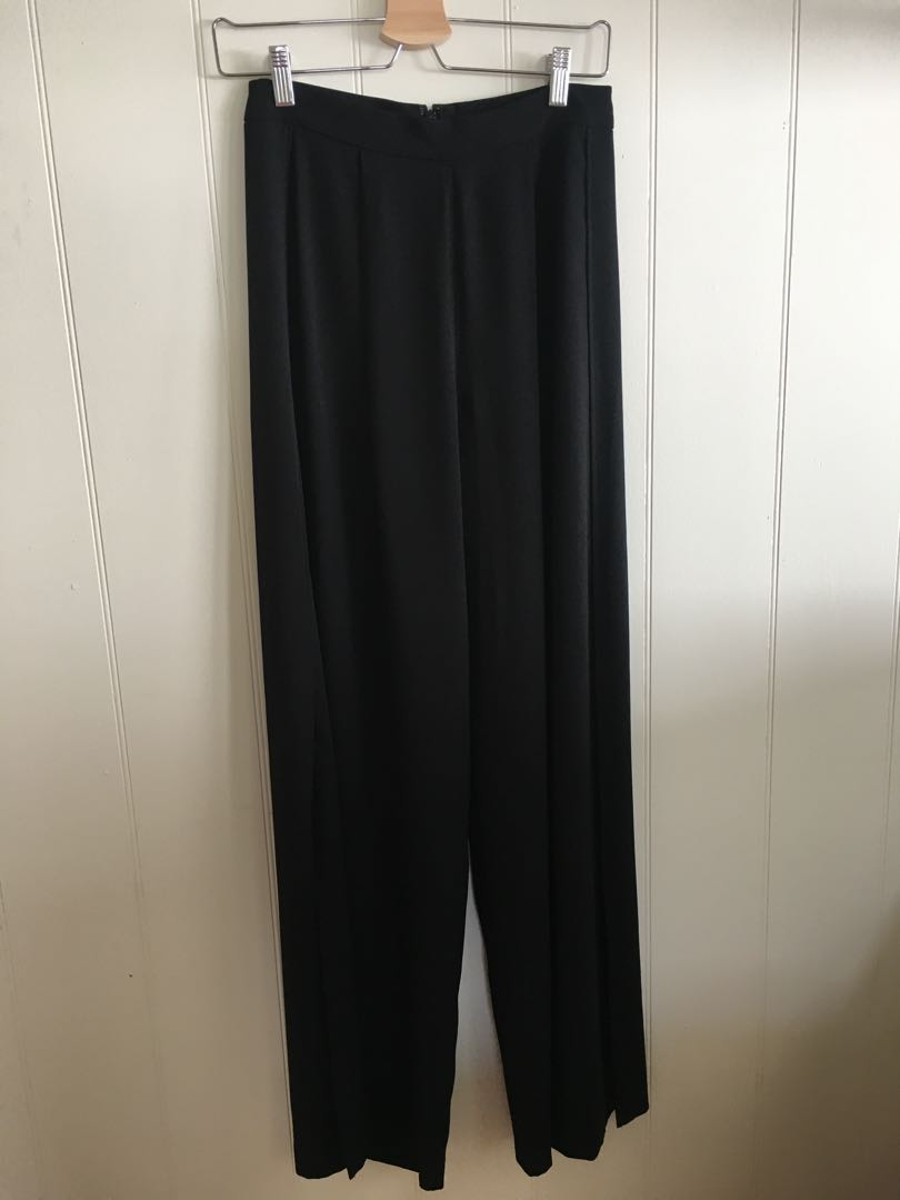 Sportsgirl flare pants with side slits - size 8