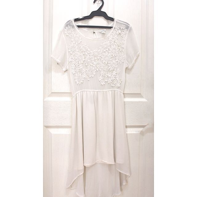 SUPER SALE Forever 21 White High-Low Dress