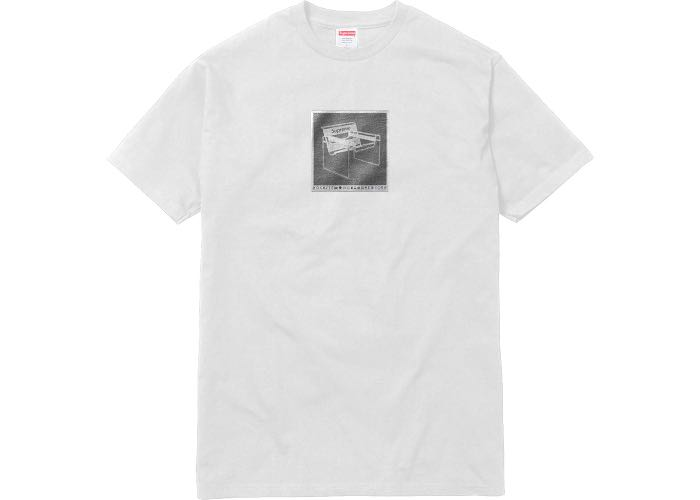 Supreme SS18 White Chair Tee, Size Medium