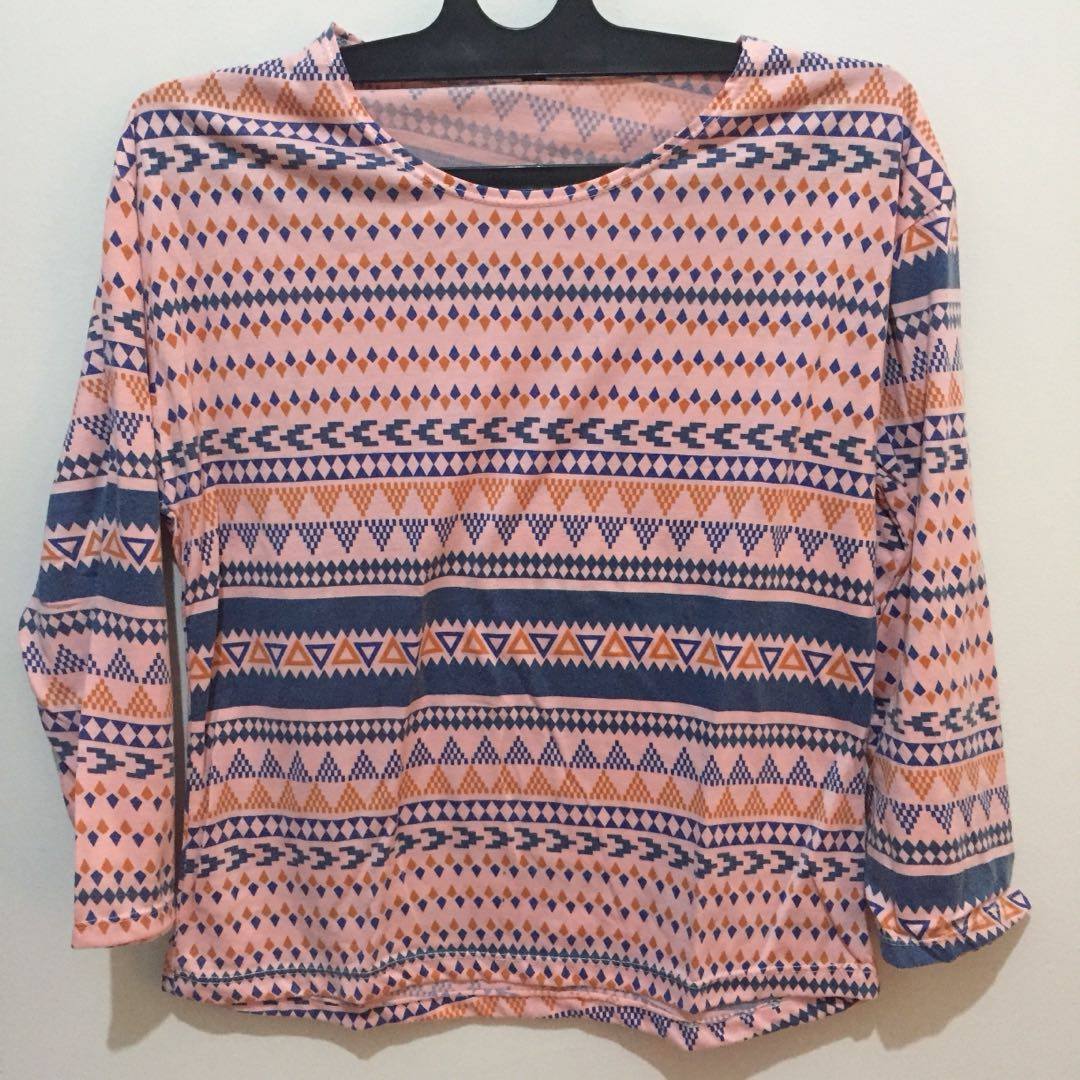 Tribal top pink shirt