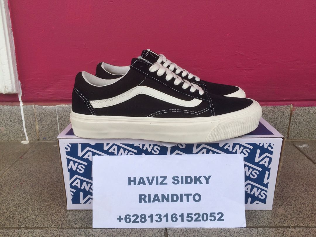 VANS VAULT OG OLD SKOOL LX BLACK MARSHMALLOW 5da627428