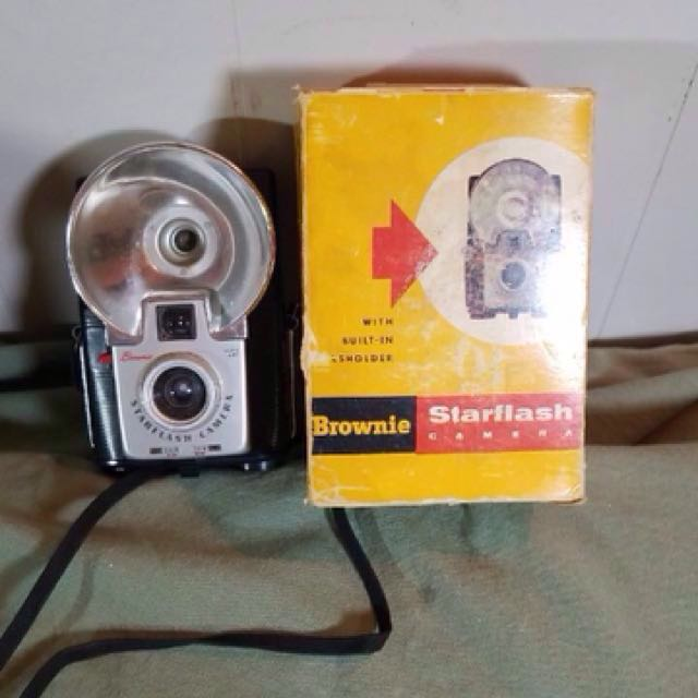 Vintage brownie camera in working condition with film