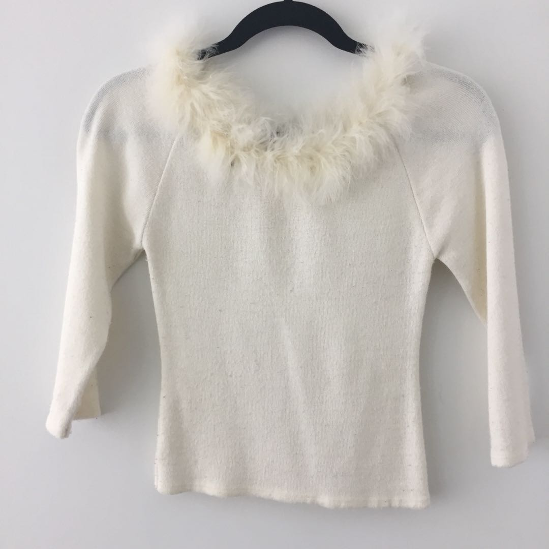 Vintage Fuzzy Trim Top