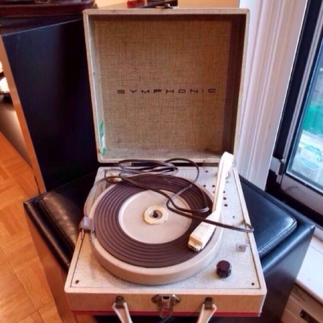 Vintage Stereophonic vinyl record player in working condition