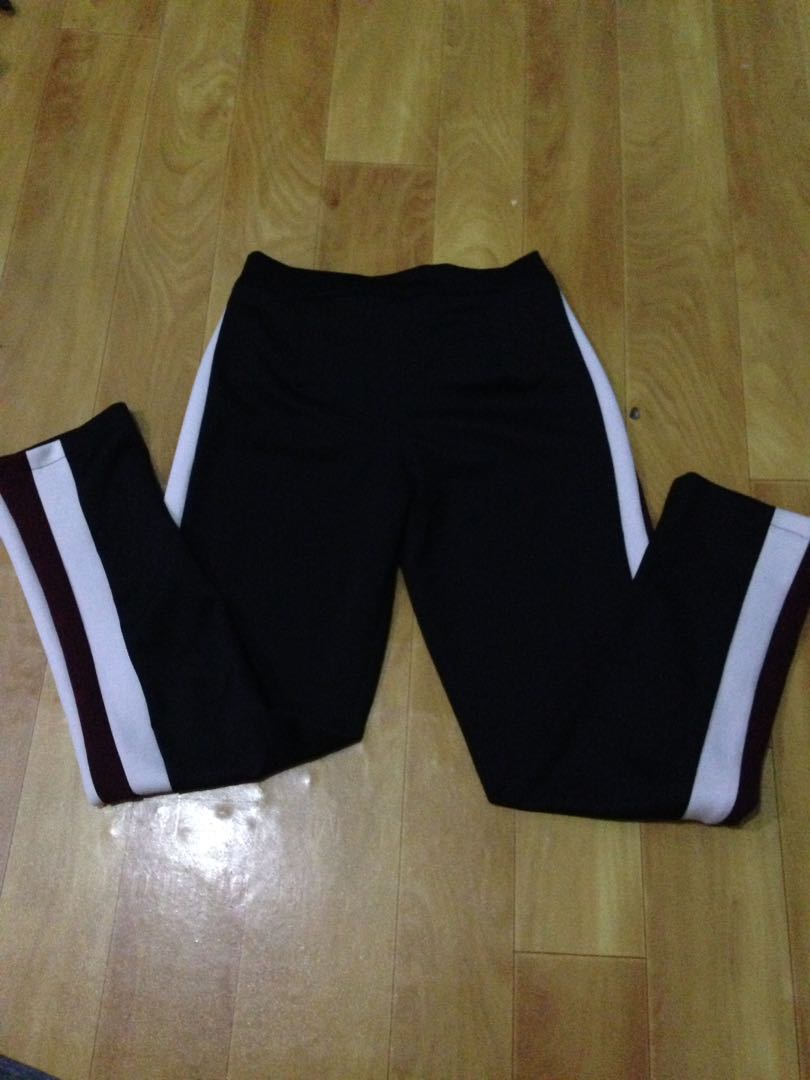 White Red List Pants