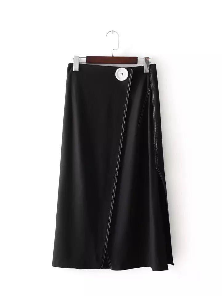 White Thread Midi Skirt