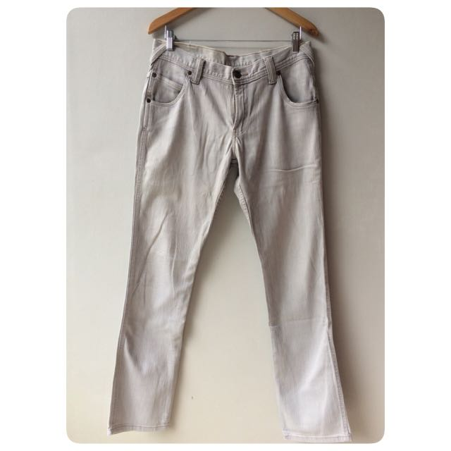 WRANGLER men's white jeans celana pria murah