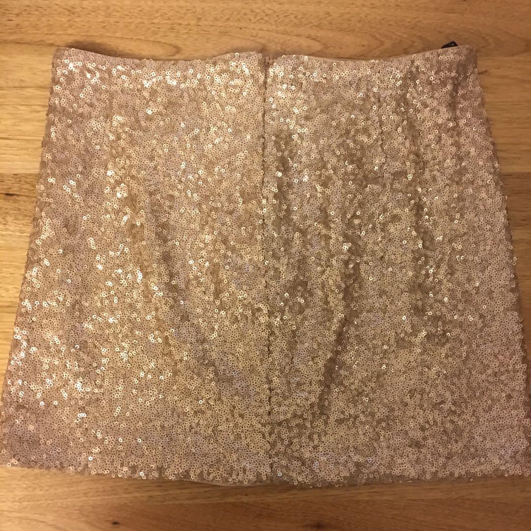 Zara matte gold mini skirt