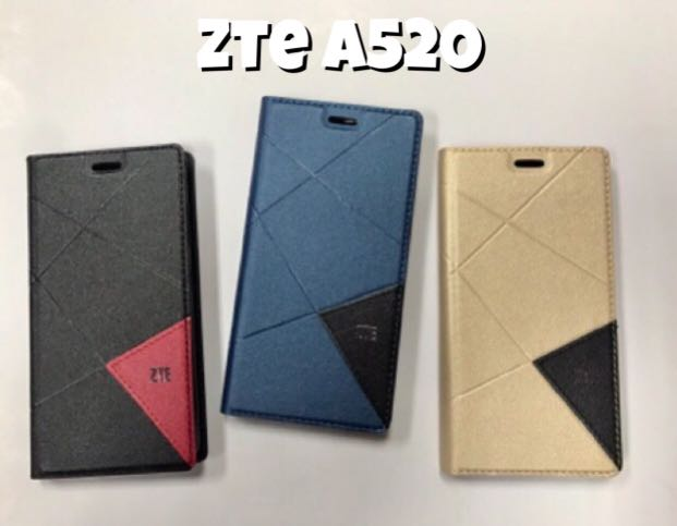ZTE BLADE A320 A520 Standable smart lip case with pocket