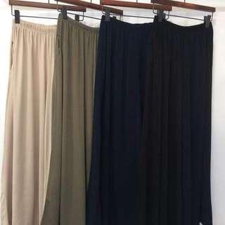 3/25收單♥涼感簡約造型寬褲