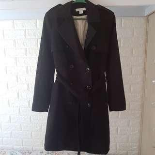 Black trench coat H&M