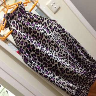 Silk Satin Animal Print long  top wear over a beaded skirt or a Date night look