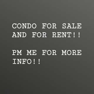 CONDO FOR SALE AND FOR RENT