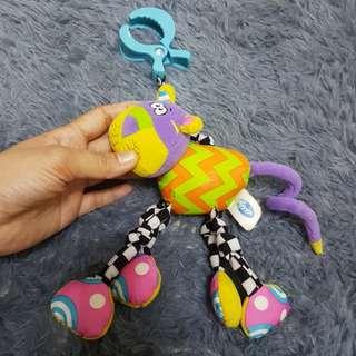 Playgro stroller or crib clip toy