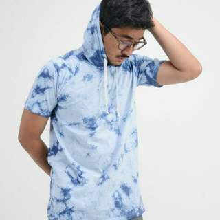 HOODIE T-SHIRT WASHING - BLUE SPLASH