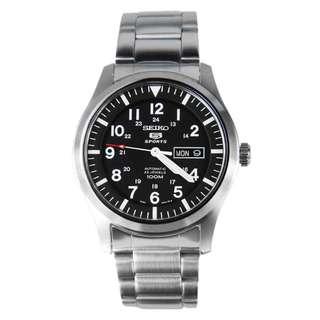 精工 SEIKO 5 SPORT AUTOMATIC 100M SNZG13K1 不鏽鋼帶 自動錶 SNZG13-K1