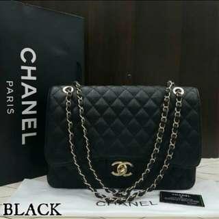 Chanel Jumbo Caviar Black