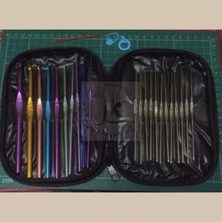 22 pcs crochet hook