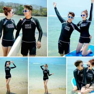 Wave Some Rashguard Terno Set (Free Size)