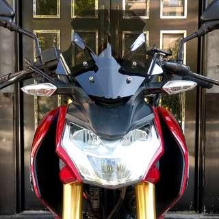 Honda CB190R CBR190F smoke tinted smoky wind screen windshield shield higher taller