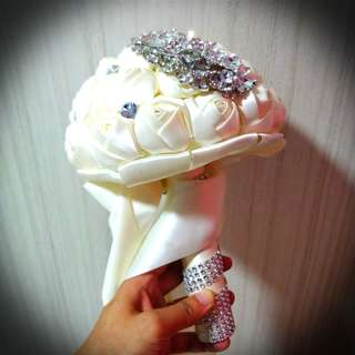 💐 Elegant Wedding Crystal Bouquet Flowers 💐