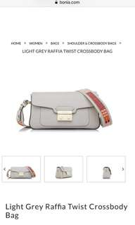 BONIA Light Grey Raffia Twist