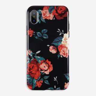 Floral Glossy Case: iPhone 5/5s/SE, 6/6s, 6+/6s+, 7/8, 7+/8+, X