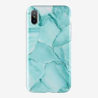 Mint Green Marble Case: iPhone 5/5s/SE, 6/6s, 6+/6s+, 7/8, 7+/8+, X