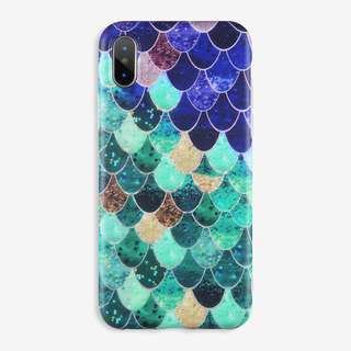 Blue Mermaid Case: iPhone 5/5s/SE, 6/6s, 6+/6s+, 7/8, 7+/8+, X