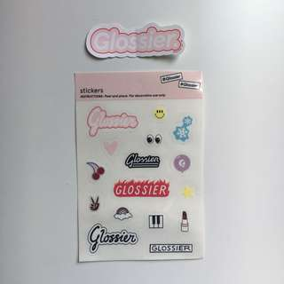 GLOSSIER Computer Sticker and Normal Stickers