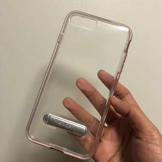 CLEAR CASE WITH METAL BUMPER FOR IPHONE 7/8 PLUS