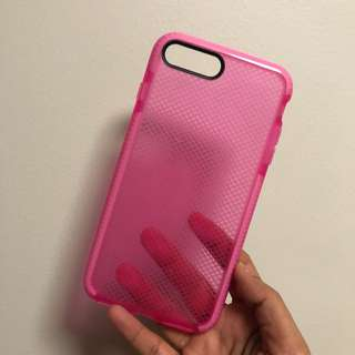 PINK SHOCKPROOF CASE FOR IPHONE 7/8 PLUS