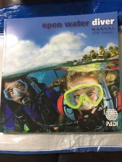 Open water diver 開放水域潛水員