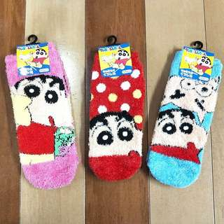 RARE!!! PREORDER FOR 4DAYS ONLY!! DIRECT IMPORTED FROM JAPAN!! 100% AUTHETNIC CRAYON SHIN CHAN'S FURRY SOCKS TO KEEP UR FEET WARM AND COMFY! !! ONLY AVAILABLE IN JAPAN!! SHIN CHAN'S FAN!! HURRY!! PO CLOSING REAL SOON!!