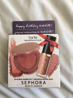 tarte blush and lip paint minis
