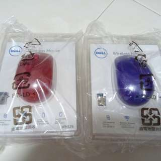 Dell WM126 wireless mouse Blue and Red