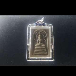 Somdej Prok pho Lp Kuay Wat Kotisaram Nur phong Be2512😍😍😍beautiful condition with authentic cert n silver casing😍😍😍