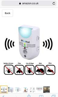 PIXMOL PEST CONTROL - Best Ultrasonic 5 in 1 Repeller Device - Deters Mice Rats, Rodents, Ants, Spiders, Moths, Insects and Many More